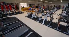 prodejna LIBEREC - část úseku běhacích pásů a cyklotrenažérů